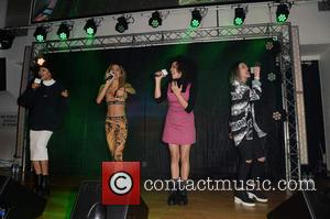 Neon Jungle - Celebrities  at  Intu Trafford Centre Christmas Lights Switch On, Trafford Centre Manchester. - Manchester, United...
