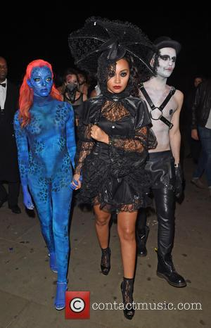 Jade Thirlwall and Leanne Pinnock - Little Mix and Tulisa Contostavlos attend a Halloween party at Bodos Schloss in Kensington...