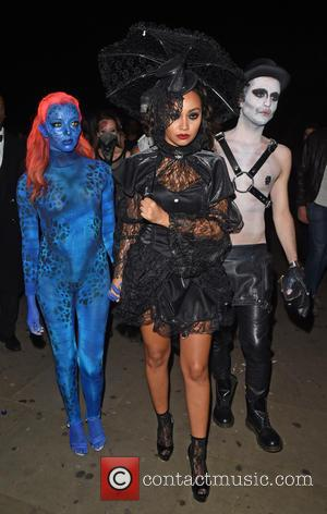 jade Thirlwall and Leigh-Anne Pinnock - Little Mix and Tulisa Contostavlos attend a Halloween party at Bodos Schloss in Kensington...