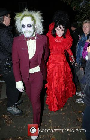 Keith Lemon and Jill Carter - Jonathan Ross' Halloween party - Arrivals - London, United Kingdom - Friday 31st October...
