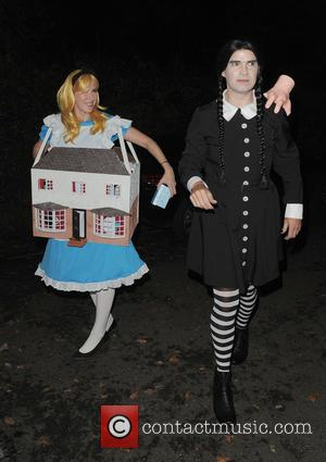 Jimmy Carr and Karoline Copping - 'Jonathan Ross' Halloween party - Arrivals - London, United Kingdom - Friday 31st October...