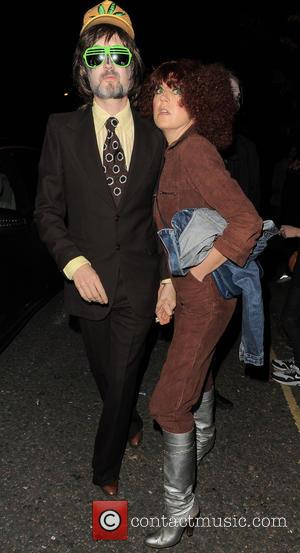 Jarvis Cocker and Camille Bidault-Waddington - 'Jonathan Ross' Halloween party - Arrivals - London, United Kingdom - Friday 31st October...