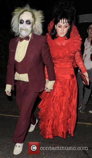 Leigh Francis and Jill Carter - 'Jonathan Ross' Halloween party - Arrivals - London, United Kingdom - Friday 31st October...