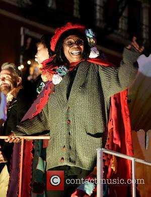 Whoopi Goldberg and Grand Marshall - 2014 New York City Halloween Parade - New York City, New York, United States...