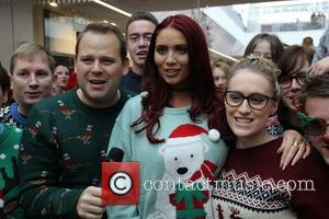 Amy Childs and Shoppers