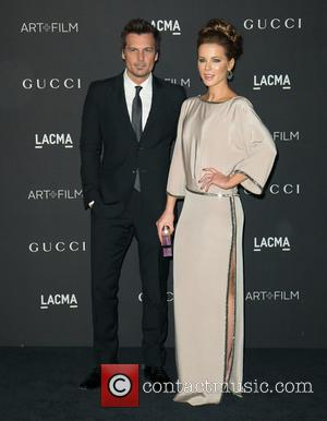 Len Wiseman and Kate Beckinsale - A variety of celebrities were photographed as they arrived at the 2014 LACMA Art+Film...