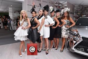 Real Housewives of Melbourne, CHYKA KEEBAUGH, JANET ROACH, GINA LIANO, GAMBLE BREAUX and PETTIFLEUR BERENGER - Photographs from Derby day...