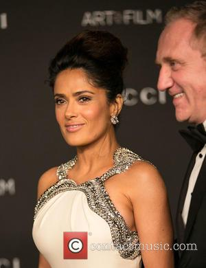 Salma Hayek Pinault and Francois-Henri Pinault - Celebrities attend 2014 LACMA Art + Film Gala honoring Barbara Kruger and Quentin...