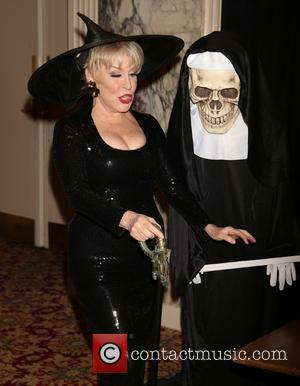 Bette Midler and Nun skeleton - The 2014 New York Restoration Project's Hulaween held at the Waldorf Astoria Hotel -...