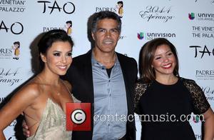 Eva Longoria, Esai Morales and Justina Machado