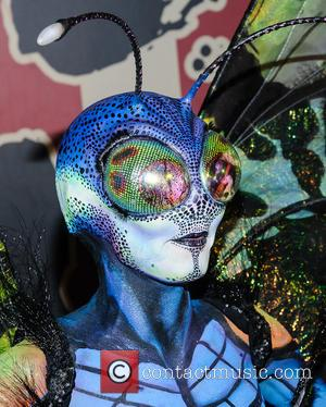 Heidi Klum Stuns In Bug Costume For Halloween Party