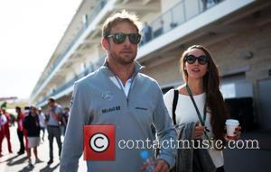 Jenson BUTTON and Jessica Michibata - 2014 Formula 1 United States Grand Prix - Circuit of The Americas - Race...