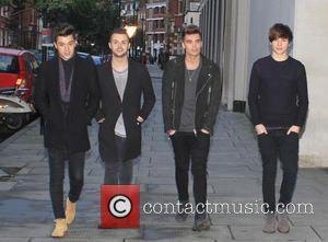 Union J, Josh Cuthbert, JJ Hamblett, Jaymi Hensley and George Shelley - Union J arriving at the BBC Radio 1...