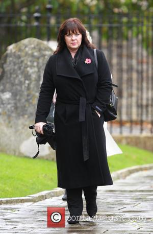 Colleen Nolan - Lynda Bellingham funeral in Crewkerne - Arrivals at St Bartholomew's Church - Crewkerne, United Kingdom - Monday...