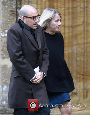 Stanley Tucci - Lynda Bellingham funeral in Crewkerne - Arrivals at St Bartholomew's Church - Crewkerne, United Kingdom - Monday...