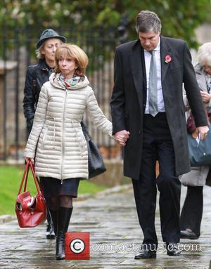 Helen Worth - The funeral of Lynda Bellingham - Crewkerne, United Kingdom - Monday 3rd November 2014
