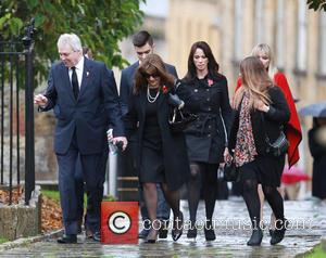 Kate Thornton, Jane MacDonald and Andrea McLean - The funeral of Lynda Bellingham - Crewkerne, United Kingdom - Monday 3rd...