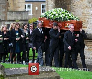 Michael Pattemore - The funeral of Lynda Bellingham - Crewkerne, United Kingdom - Monday 3rd November 2014
