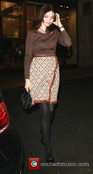 Gemma Arterton - Launch of the 2014 Burberry festive campaign -  Outside Arrivals at Burberry, 121 Regent Street,W1B 4TB...
