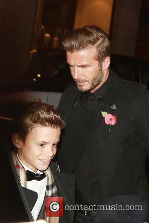 Romeo Beckham and David Beckham