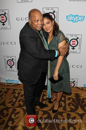 Quincy Jones and Salma Hayek Pinault - A variety of stars attended the