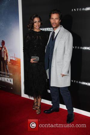 Camila Alves and Matthew McConaughey - Photo's of the stars as they arrived at the New York premiere of Sci-Fi...