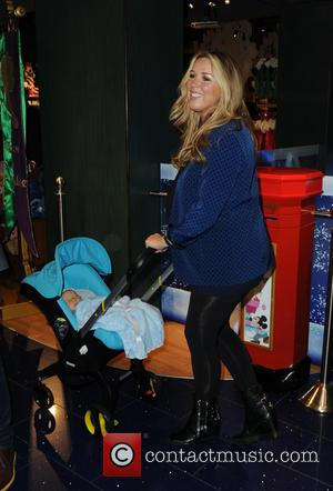 Claire Sweeney and Jaxon Reilly - Photographs from the launch of Disney Store's 'Share the Magic' Christmas charity campaign was...