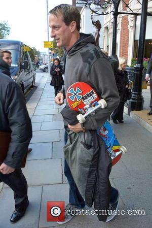 Tony Hawk - Professional skateboarder Tony Hawk leaving The Shelbourne hotel in Dublin - Dublin, Ireland - Tuesday 4th November...