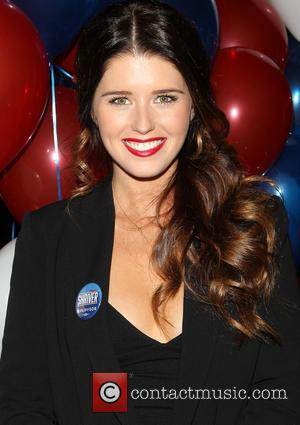 Katherine Schwarzenegger - American attorney, journalist and member of the Kennedy family Bobby Shriver at the election night party held...