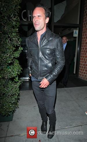 Walton Goggins - The 2015 cast of 'The Hateful Eight' has a dinner meeting at Mr.Chow in Beverly Hills -...