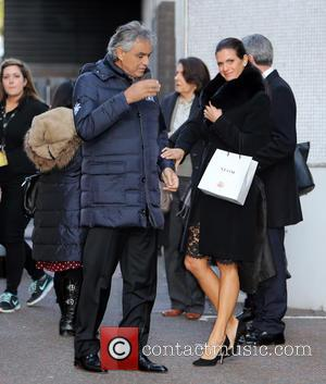 Andrea Bocelli and Veronica Berti - Andrea Bocelli and his wife, Veronica Berti outside the ITV studios - London, United...