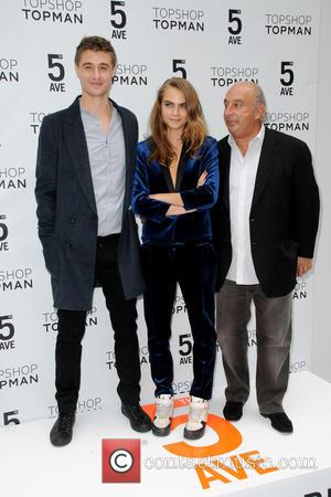 Max Irons, Cara Delevingne and Sir Philip Green