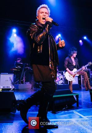 English rock musician Billy Idol performed live in concert on the opening night of his UK tour at the O2...