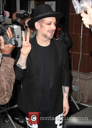 Boy George - Boy George leaves the BET 106 & Park studios - New York, United States - Wednesday 5th...
