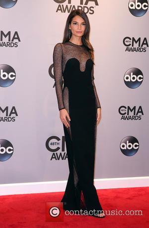 Lily Aldridge - 48th Annual CMA awards at the Bridgestone Arena - Red carpet at Bridgestone Arena - Nashville, Tennessee,...