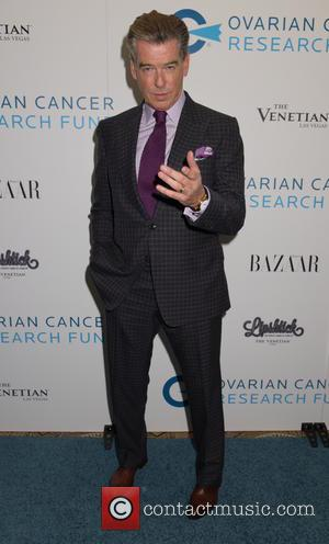 Pierce Brosnan - 2014 Ovarian Cancer Research Fund's Legends Gala at The Pierre Hotel - Arrivals at Pierre - Manhattan,...
