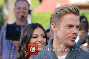 Derek Hough and Bethany Mota - Derek Hough and Bethany Mota appear on Extra at Universal Studios - Los Angeles,...