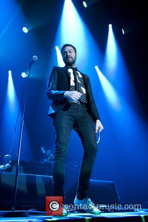 Tom Meighan - Rock band Kasabian performing live on stage at the Heineken Music Hall - Amsterdam, Netherlands - Thursday...