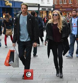 Tony Hawk and Cathy Goodman - Pro skateboarder Tony Hawk and partner Cathy Goodman spotted shopping on Grafton Street, Dublin,...
