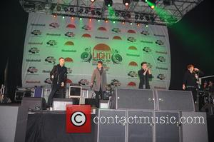 Union J - Celebrities perform at the Meadowhall Shopping Centre Christmas lights switch-on - Manchester, United Kingdom - Thursday 6th...
