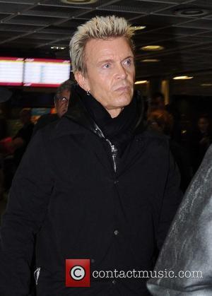Billy Idol - Rock star Billy Idol arriving at Dublin Airport - Dublin, Ireland - Friday 7th November 2014