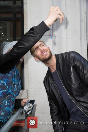 Calvin Harris - Celebrities at the BBC Radio 2 studios at BBC Portland Place - London, United Kingdom - Friday...