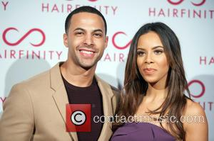 Marvin Humes and Rochelle Wiseman - Hairfinity hair vitamins launch party held at Il Bottaccio - London, United Kingdom -...