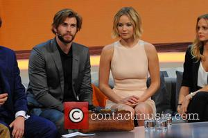 Liam Hemsworth and Jennifer Lawrence - German ZDF Live TV show 'Wetten, dass..?' at Stadthalle at Stadthalle - Graz, Austria...