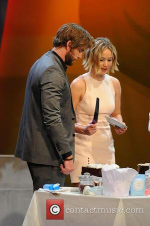 Liam Hemsworth, Jennifer Lawrence and Markus Lanz