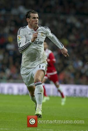 Gareth Bale - La Liga match between Real Madrid and Rayo Vallecano at the Santiago Bernabeu stadium - Madrid, Spain...