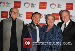 Brad Altman, George Takei, Lori Jean and Tab Hunter