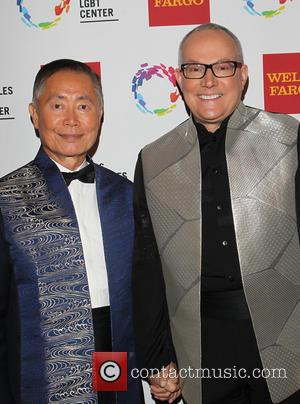 George Takei and Brad Altman - 45th Anniversary Gala Vanguard Awards at Hyatt Century City Plaza - Arrivals at Hyatt...