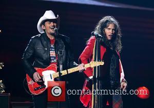 Brad Paisley and Steven Tyler - 2014 CMA Country Christmas at Bridgestone Arena - Performances at Bridgestone Arena - Nashville,...