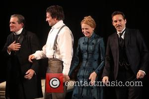 Anthony Heald, Bradley Cooper, Patricia Clarkson and Alessandro Nivola - The first preview curtain call for Bradley Cooper in Broadway's...